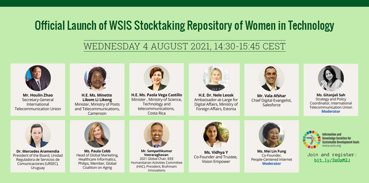 Official Launch of WSIS Stocktaking Repository of Women in Technology